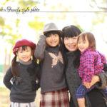 笑顔の家族写真