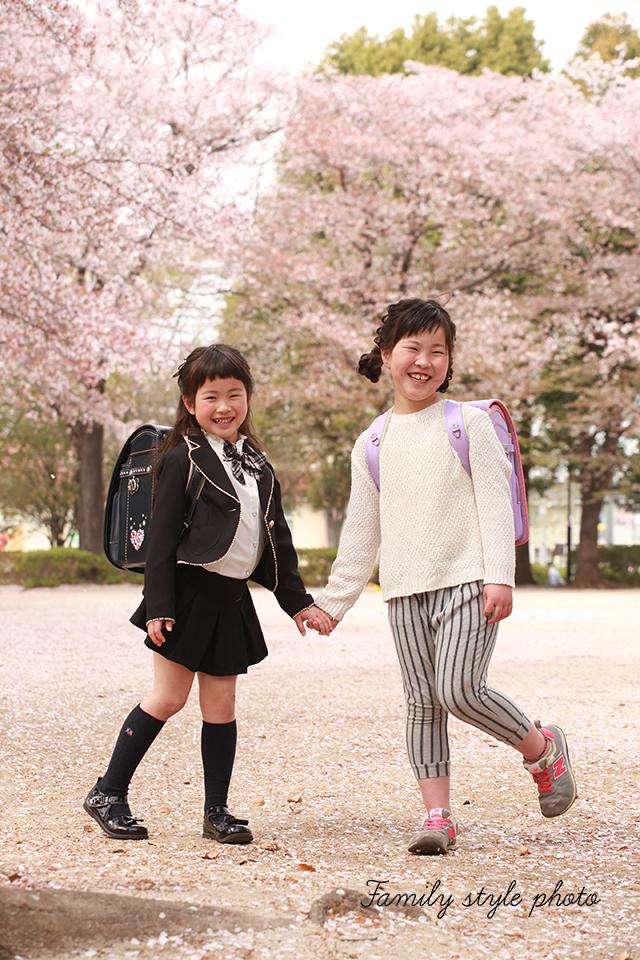 桜とキッズ撮影