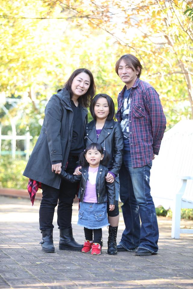 年賀状用の家族写真撮影会
