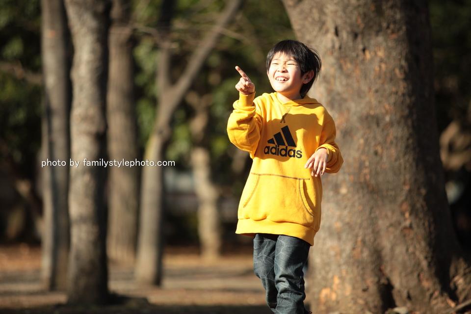 家族写真撮影で江東区の公園に行ってきました