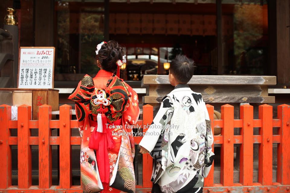 鎌ヶ谷市・道野辺八幡宮で七五三|雨の中でも笑顔の写真撮影