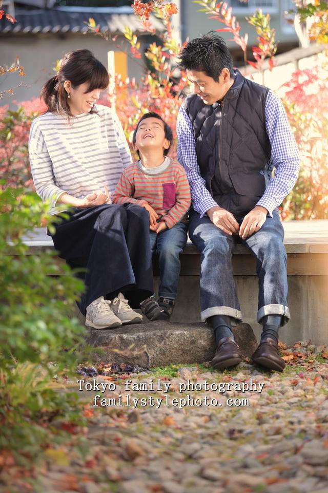 ナチュラルな家族写真