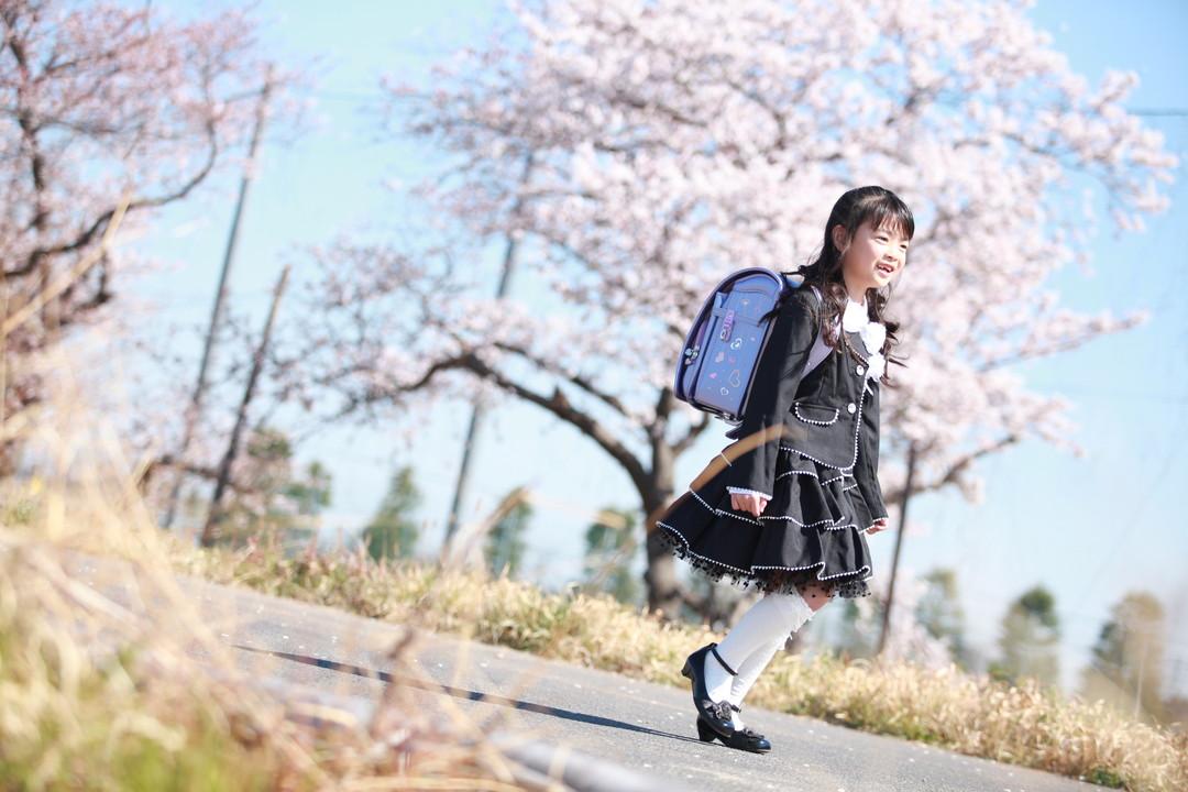 桜とランドセル撮影会